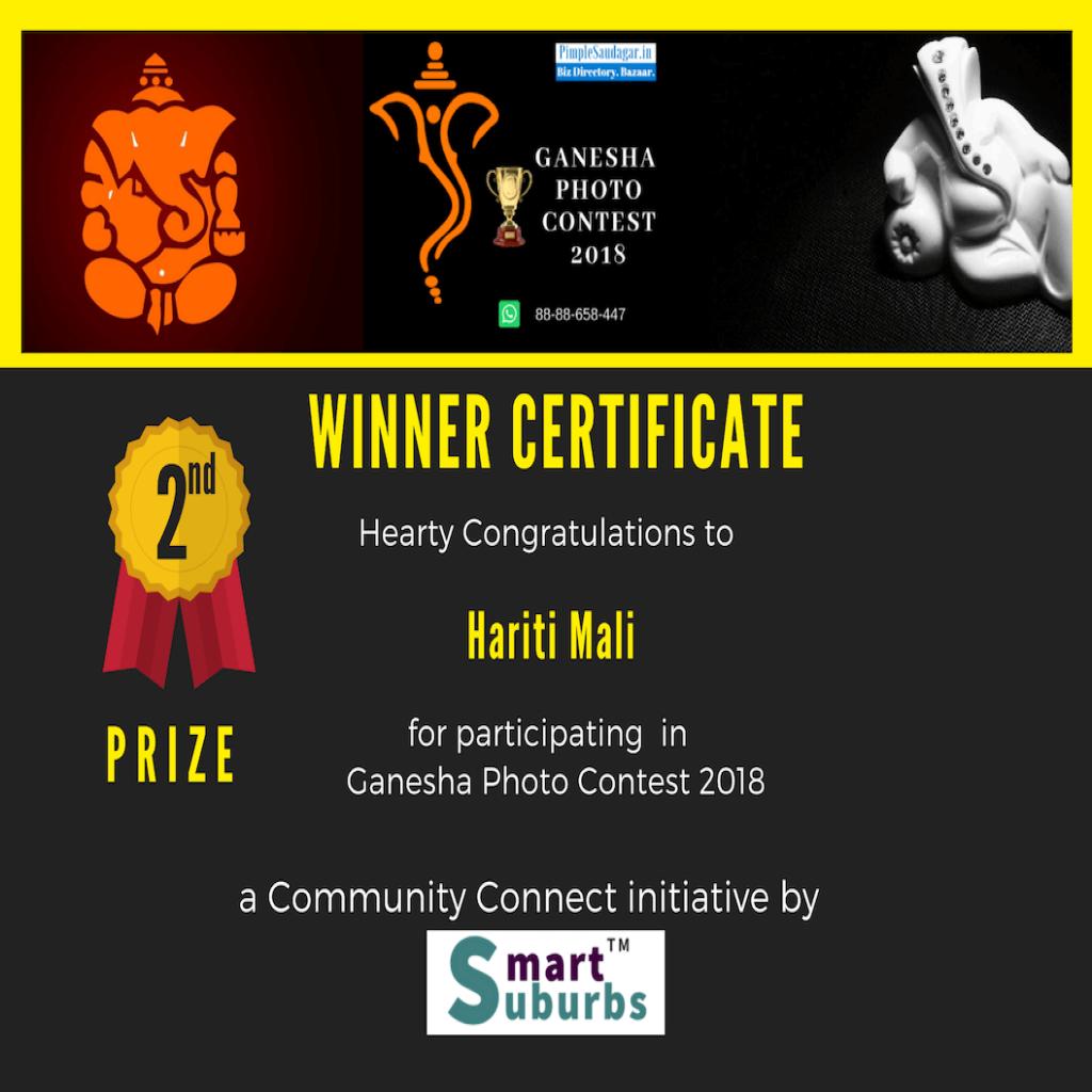 ganesha Photo contest 2nd Winner Hariti Mali – Eco-friendly Ganesha – Save Animals and Planet Theme pimple saudagae 2018 | hariti mali – eco-friendly ganesha - save animals and planet theme pimple saudagae 2018