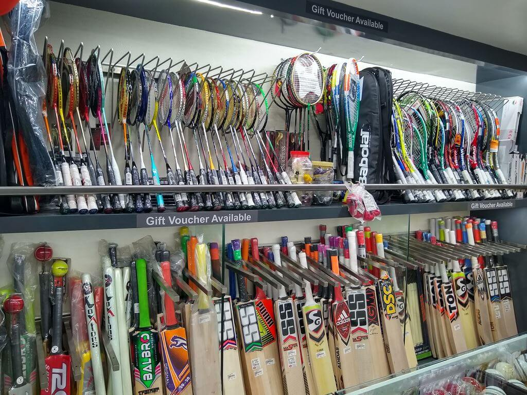 sk-sports-shop-interior-Bats Sports Goods Store / Shop in Pimple Saudagar – SK Sports and Sales | sports goods store / shop in pimple saudagar
