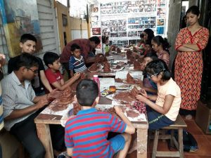 Ecofriemdly Ganpati Making Class Drawing, Art, Painting Classes / Institute in Pimple Saudagar- Grafiti Expressions | drawing