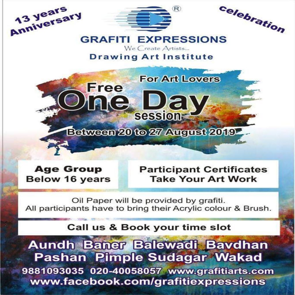 Free One Day Drawing session for kids at pimple saudagar