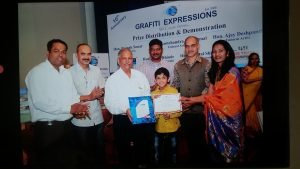 Prize Distribution Grafiti Expressions Drawing, Art, Painting Classes / Institute in Pimple Saudagar- Grafiti Expressions   drawing