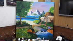 Scenery Painting Grafiti Expresssions Drawing, Art, Painting Classes / Institute in Pimple Saudagar- Grafiti Expressions | drawing