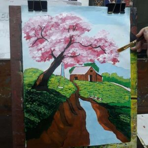 Scenery Painting Grafiti Expresssions1 Drawing, Art, Painting Classes / Institute in Pimple Saudagar- Grafiti Expressions | drawing