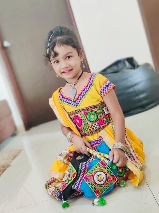 Aaradhya Dabhade - Kids Garba Costume Photo Contest – 2019 1st Prize Winner – Aaradhya Dabhade – K2 Homes – Kids Garba Costume Photo Contest – 2019 | aaradhya dabhade - kids garba costume photo contest – 2019