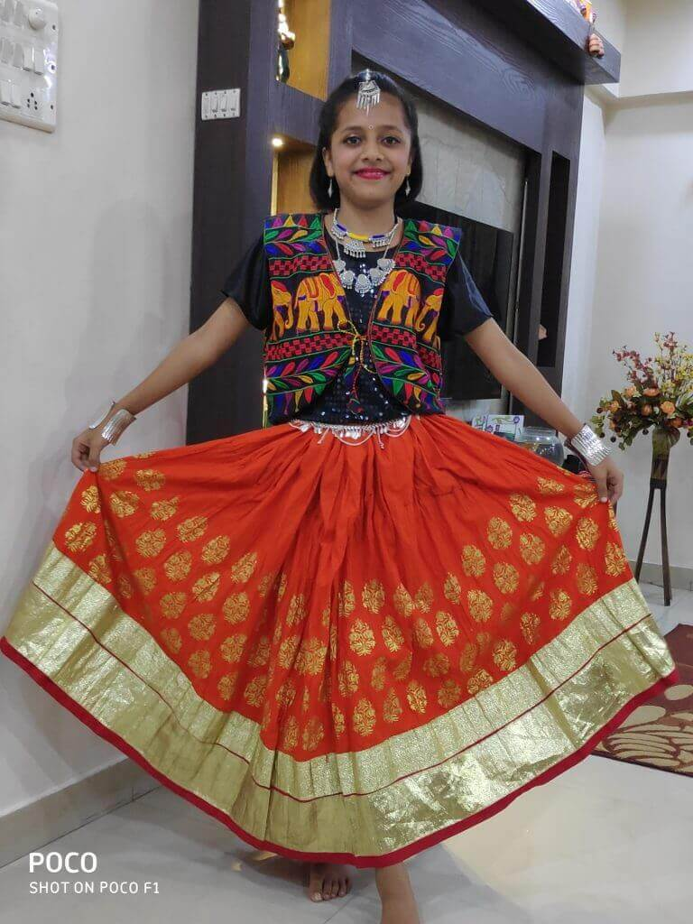Anushri Vijay Shinde – Kids Garba Costume Photo Contest – 2019 | anushri vijay shinde - kids garba costume photo contest – 2019