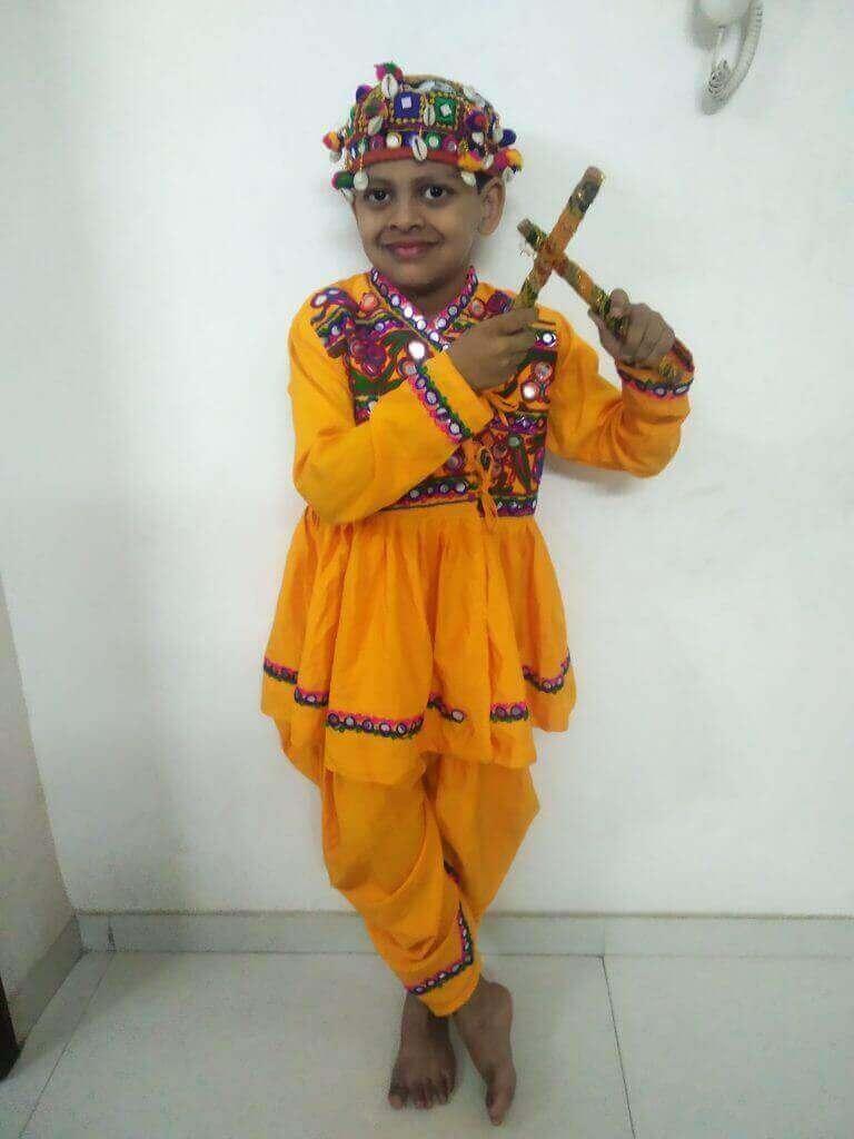 3rd Prize Winner Arnav Savgave – Kids Garba Costume Photo Contest – 2019 | arnav savgave - kids garba costume photo contest – 2019