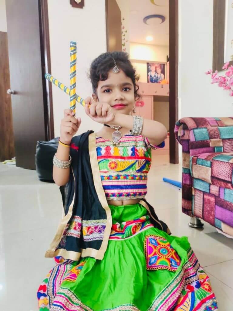 Janvi Dabhade – Kids Garba Costume Photo Contest – 2019 | janvi dabhade - kids garba costume photo contest – 2019
