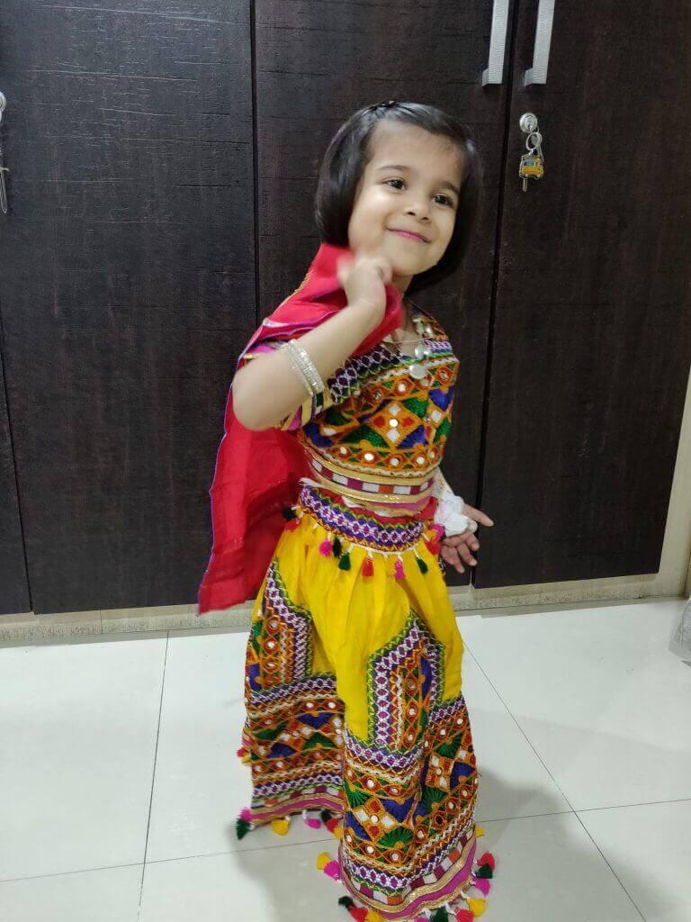 Navika Bihani – Kids Garba Costume Photo Contest – 2019 | navika bihani - kids garba costume photo contest – 2019