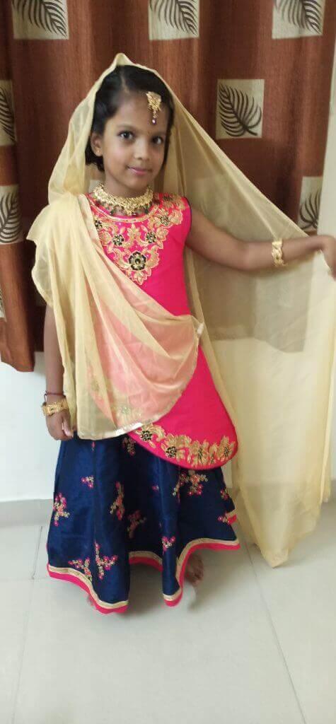 Nivedha Ganesh – Kids Garba Costume Photo Contest – 2019 | nivedha ganesh - kids garba costume photo contest – 2019