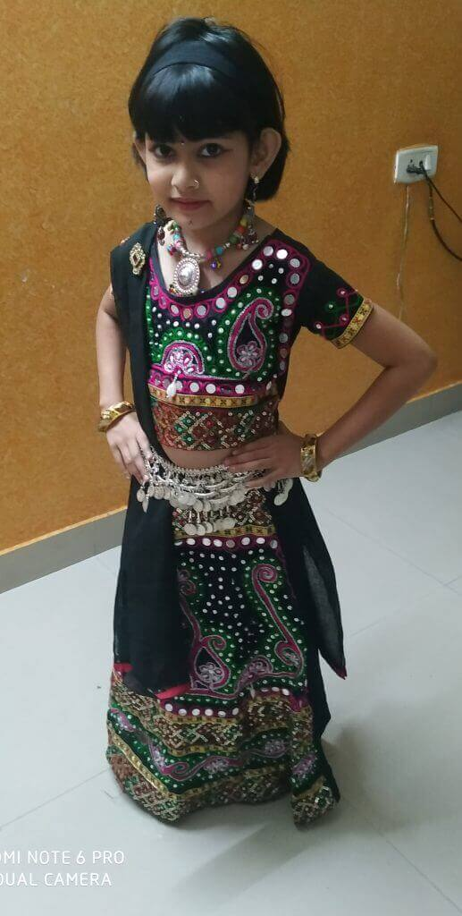 Vedashree Rasane – Kids Garba Costume Photo Contest – 2019 | vedashree rasane - kids garba costume photo contest – 2019