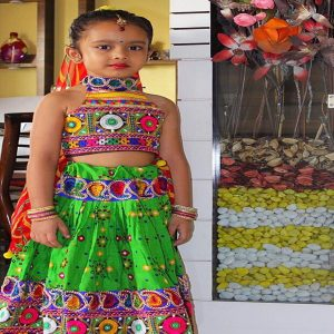 Gatha Pawar Elmwood Society PS 2 Best Kids Garba Costume Photo Contest  in Pimple Saudagar 2019 | best kids garba costume photo contest  in pimple saudagar 2019