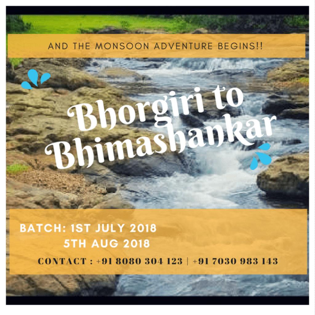 One Day Monsoon Trek Bhorgiri To Bhimashankar pimple saudagar