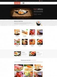 Sushi-Home1-3691071959 for food delivery Website Development | website development